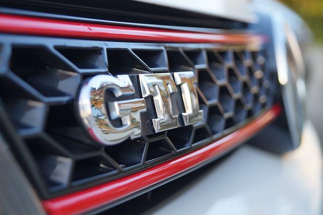 VW GTI grill badge